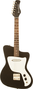 Musical Instruments:Electric Guitars, Circa 1968 Danelectro Hawk Black Solid Body Electric Guitar....