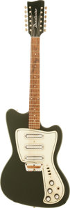 Musical Instruments:Electric Guitars, Circa 1968 Danelectro Hawk Green Solid Body Electric Guitar....