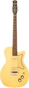 Musical Instruments:Electric Guitars, 1957 Danelectro U2 Yellow Vinyl Solid Body Electric Guitar....