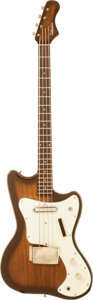 Musical Instruments:Bass Guitars, Circa 1967 Silvertone Sunburst Electric Bass Guitar, Serial # 185 14429....