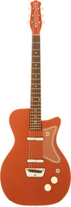 Musical Instruments:Electric Guitars, 1958 Danelectro U2 Rose Solid Body Electric Guitar, Serial #5196....