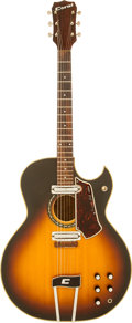 Musical Instruments:Acoustic Guitars, 1968 Coral Vincent Bell Combo Sunburst Acoustic Electric Guitar,Serial # 836002....