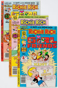 Modern Age (1980-Present):Humor, Richie Rich and Gloria/Richie Rich and His Girlfriends File CopiesBox Lot (Harvey, 1980s) Condition: Average NM-....