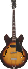 Musical Instruments:Electric Guitars, 1963 Gibson ES-330 Sunburst Semi-Hollow Body Electric Guitar, Serial # 99203....