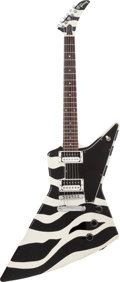 Musical Instruments:Electric Guitars, 1993 Gibson Custom Shop Zebra Explorer Black and White Solid BodyElectric Guitar, Serial # 91693755....