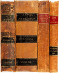 Books:Americana & American History, [American History]. Group of Four Books of Acts and JointResolutions Passed in Virginia. Richmond: [various publishers and... (Total: 4 Items)