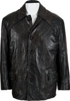"""Featured item image of A Sylvester Stallone Personal Black Leather Jacket from """"Rocky.""""..."""