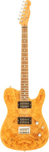 Musical Instruments:Electric Guitars, 2000's Fender Telecaster Spalted Maple Solid Body Electric Guitar,Serial # 08070596....