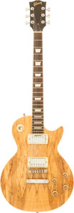 Musical Instruments:Electric Guitars, 1990's Gibson Les Paul Copy Spalted Maple Solid Body Electric Guitar....