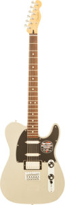 Musical Instruments:Electric Guitars, 2011 Fender Telecaster Baritone Inca Silver Solid Body ElectricGuitar, Serial # MX12160597....