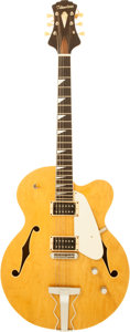 Musical Instruments:Electric Guitars, 1990's Flanders Natural Archtop Electric Guitar....