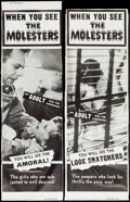 """Movie Posters:Exploitation, The Molesters (Aristocrat Films, 1964). Trimmed Door Panel Set of 4(approx. 19.25"""" X 57.5""""). Exploitation.. ... (Total: 4 Items)"""