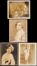 "Movie Posters:Miscellaneous, Peggy Fears & Others Lot (ca. 1920s). Autographed Photos (4) (8"" X 10""). Miscellaneous.. ... (Total: 4 Items)"