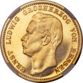 German States:Hesse-Darmstadt, German States: Hesse-Darmstadt. Ernst Ludwig gold Proof 20 Mark 1898-A PR65 Cameo NGC,...