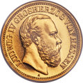 German States:Hesse-Darmstadt, German States: Hesse-Darmstadt. Ludwig IV gold Proof 20 Mark 1892-A PR65 NGC,...