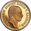 German States:Saxony, German States: Saxony. Friedrich August gold Proof 20 Mark 1914-EPR68 Ultra Cameo NGC,...