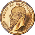 German States:Schaumburg-Lippe, German States: Schaumburg-Lippe. Georg gold Proof 20 Mark 1904-APR67 Cameo NGC,...