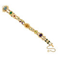 Estate Jewelry:Bracelets, Multi-Stone, Cultured Pearl, Diamond, Gold Bracelet. ...