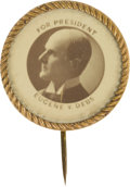 Political:Pinback Buttons (1896-present), Eugene V. Debs: Early Real Photo Stickpin....