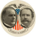 Political:Pinback Buttons (1896-present), McKinley & Hobart: Large Eagle and Shield Jugate....