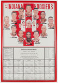 Basketball Collectibles:Photos, 1993-94 Indiana Hoosiers Team Signed Print....