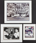 Miscellaneous Collectibles:General, Misc. New York Sports Greats Signed Photographs Lot of 3....