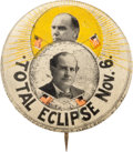 """Political:Pinback Buttons (1896-present), William Jennings Bryan and William McKinley: Full Color 1¼"""" EclipseButton...."""