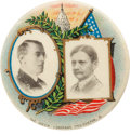"Political:Pinback Buttons (1896-present), Wilson & Marshall: A Stunning 1¼"" Jugate by American Artworksof Coshocton, Ohio...."
