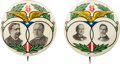 """Political:Pinback Buttons (1896-present), Bryan & Kern and Taft & Sherman: A Superb Perfectly MatchedPair of Rare 1¼"""" 1908 Jugates by Ehrman Manufacturing Company ofB..."""