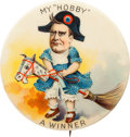 "Political:Pinback Buttons (1896-present), William McKinley: The Multi-color 2 1/8"" ""Hobby Horse"" Design...."
