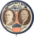 "Political:Pinback Buttons (1896-present), Roosevelt & Garner: An Exceedingly Rare and Important 2⅛"" 1932Jugate...."