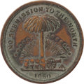 """Political:Tokens & Medals, John C. Breckinridge: A Choice Example of the Sought-after """"Wealth of the South"""" Confederate Medalet...."""