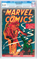 Golden Age (1938-1955):Superhero, Marvel Comics #1 (Timely, 1939) CGC VG 4.0 Cream to off-whitepages....