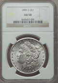 Morgan Dollars: , 1885-S $1 AU58 NGC. NGC Census: (311/4903). PCGS Population (256/8239). Mintage: 1,497,000. Numismedia Wsl. Price for probl...