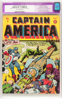 Captain America Comics #3 Centerfold Trimmed (Timely, 1941) CGC Apparent VF- 7.5 Slight (A) Cream to off-white pages