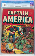 Golden Age (1938-1955):Superhero, Captain America Comics #2 (Timely, 1941) CGC GD- 1.8 Brittle pages....