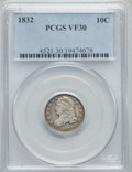 Bust Dimes: , 1832 10C VF30 PCGS. PCGS Population: (28/435). NGC Census: (12/261). VF30. Mintage 522,500. ...