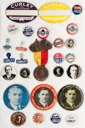 Political:Pinback Buttons (1896-present), James M. Curley: An Amazing Collection of Twenty-seven DifferentItems for Boston's Legendary Democratic Mayor....