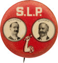 """Political:Pinback Buttons (1896-present), Gillhaus & Munro: Rare 1¼"""" 1908 Socialist Labor PartyJugate...."""