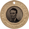 Political:Ferrotypes / Photo Badges (pre-1896), Lincoln & Hamlin: A Pristine 1860-dated Ferrotype....