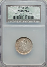 1875-S 20C -- Improperly Cleaned -- NCS. AU Details. NGC Census: (76/2020). PCGS Population (205/2231). Mintage: 1,155,0...