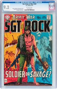 Our Army at War #220 (DC, 1970) CGC NM- 9.2 Off-white pages