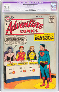 Adventure Comics #247 (DC, 1958) CGC Apparent GD+ 2.5 Slight to Moderate (B-2) Cream to off-white pages