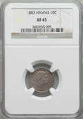 Coins of Hawaii: , 1883 10C Hawaii Ten Cents XF45 NGC. NGC Census: (50/250). PCGSPopulation (92/340). Mintage: 250,000. ...
