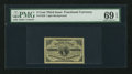 Fractional Currency:Third Issue, Fr. 1226 3¢ Third Issue PMG Superb Gem Uncirculated 69 EPQ.. ...