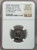 Ancients:Roman Provincial , Ancients: EGYPT. Alexandria. Gallienus (AD 253-268). BILtetradrachm (11.16 gm)....