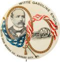 "Political:Pinback Buttons (1896-present), Alton B. Parker: Very Rare 2 1/8"" Button Advertising the 1904Democratic Candidate and the Witte Engine...."