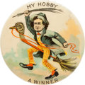 "Political:Pinback Buttons (1896-present), William Jennings Bryan: The Iconic 2¼"" ""Hobby Horse"" Rarity...."