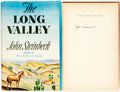 Books:Literature 1900-up, John Steinbeck. SIGNED. The Long Valley. Cleveland and NewYork: The World Publishing Company, [1945]. Tower Boo...