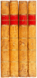 Books:Periodicals, [Samuel Johnson]. The Rambler. In Four Volumes.London: Printed for T. Longman, B. Law and Son, et al, 1793. Com...(Total: 4 Items)